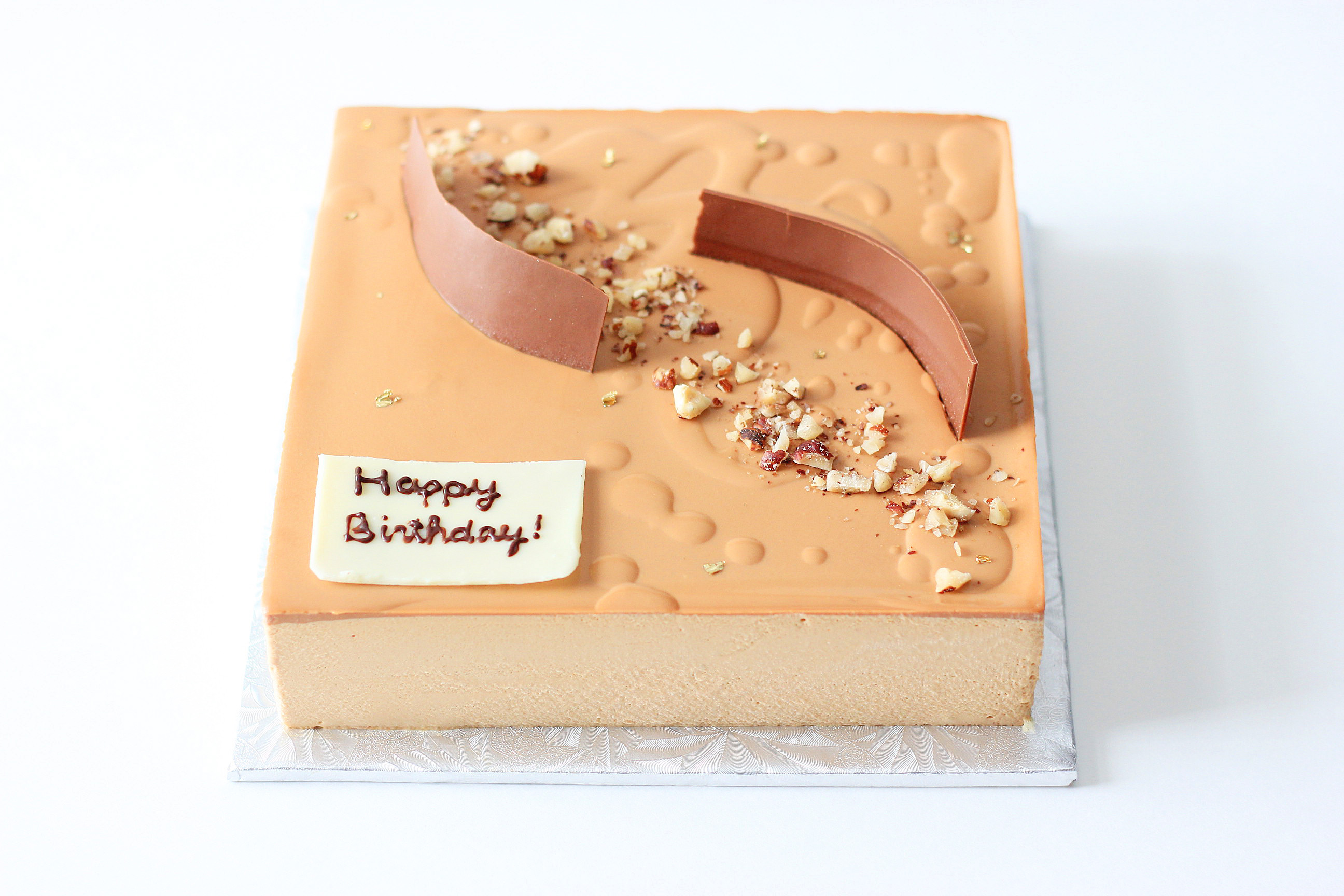 HK-Style Milk Tea Pecan Mousse Cake