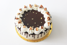 Hojicha Honey Cheese Mousse Cake